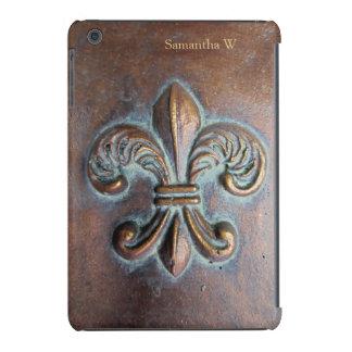 Fleur De Lis, Aged Copper-Look Printed iPad Mini Retina Case