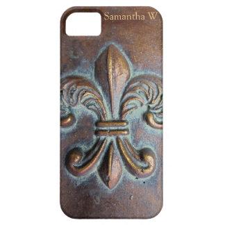 Fleur De Lis, Aged Copper-Look Printed iPhone SE/5/5s Case