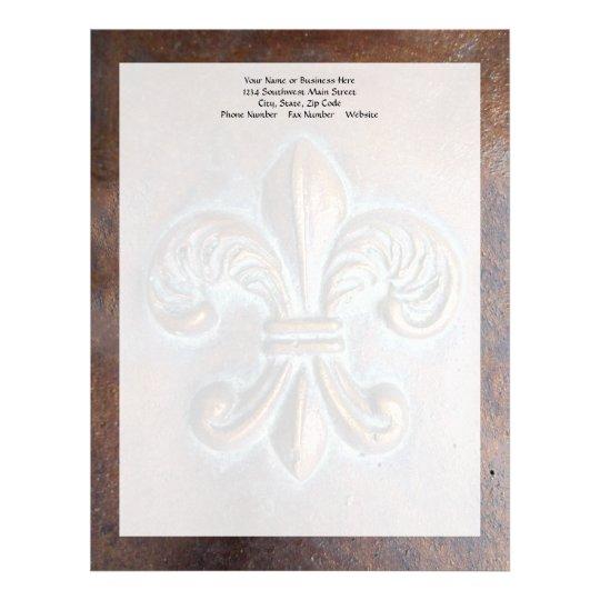 Fleur De Lis, Aged Copper-Look Printed Letterhead