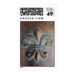 Fleur De Lis, Aged Copper-Look Printed Stamps