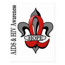 Fleur De Lis AIDS Hope Postcard