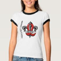 Fleur De Lis AIDS Hope T-Shirt