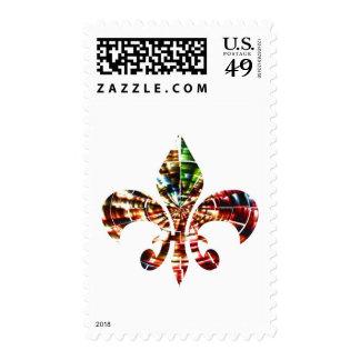 fleur-de-lis : Amazing Red Sparkle Design Postage