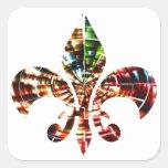 fleur-de-lis : Amazing Red Sparkle Design Sticker