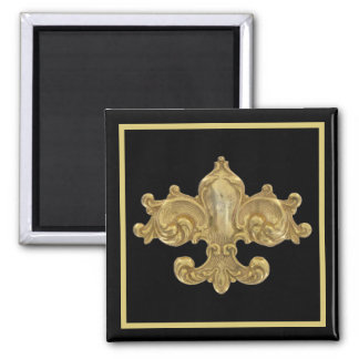 Fleur De Lis Antique Gold Magnet
