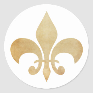 Fleur de Lis Antique Gold Stickers