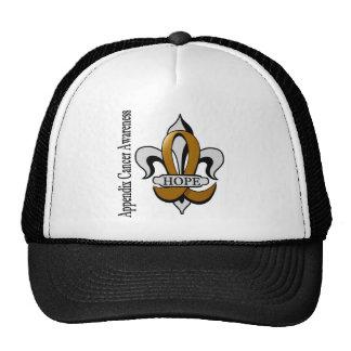 Fleur De Lis Appendix Cancer Hope Trucker Hat