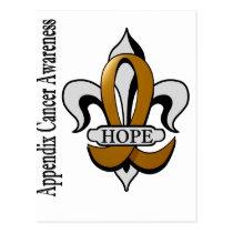 Fleur De Lis Appendix Cancer Hope Postcard