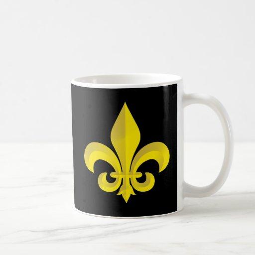 Fleur De Lis Art Gold Coffee Mug
