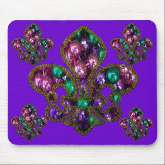 fleur de Lis beads mousepad