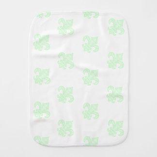 Fleur de Lis bébé™ Baby Burp Cloth Mint Green