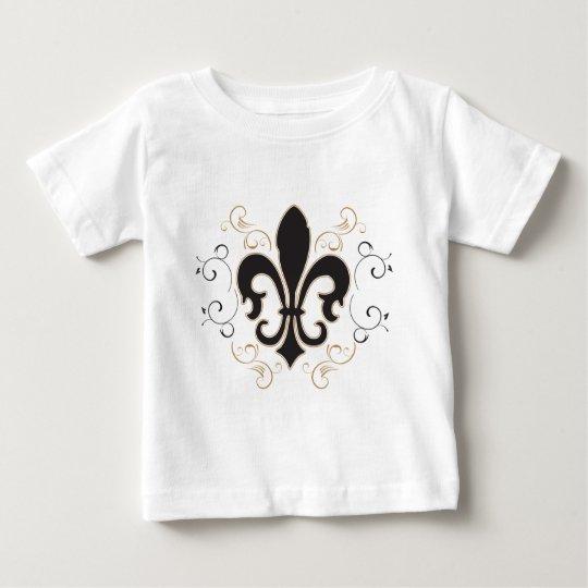 Fleur De Lis: Black and Gold Baby T-Shirt