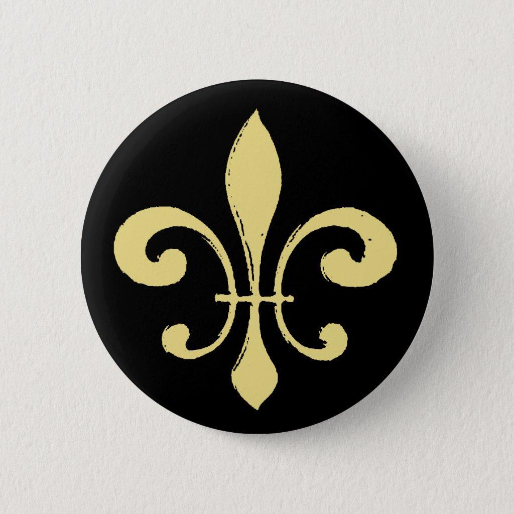 Fleur De Lis,Black and Gold