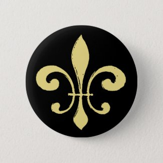 Fleur De Lis,Black and Gold