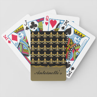 Fleur de Lis Black and Gold Playing Cards - SRF