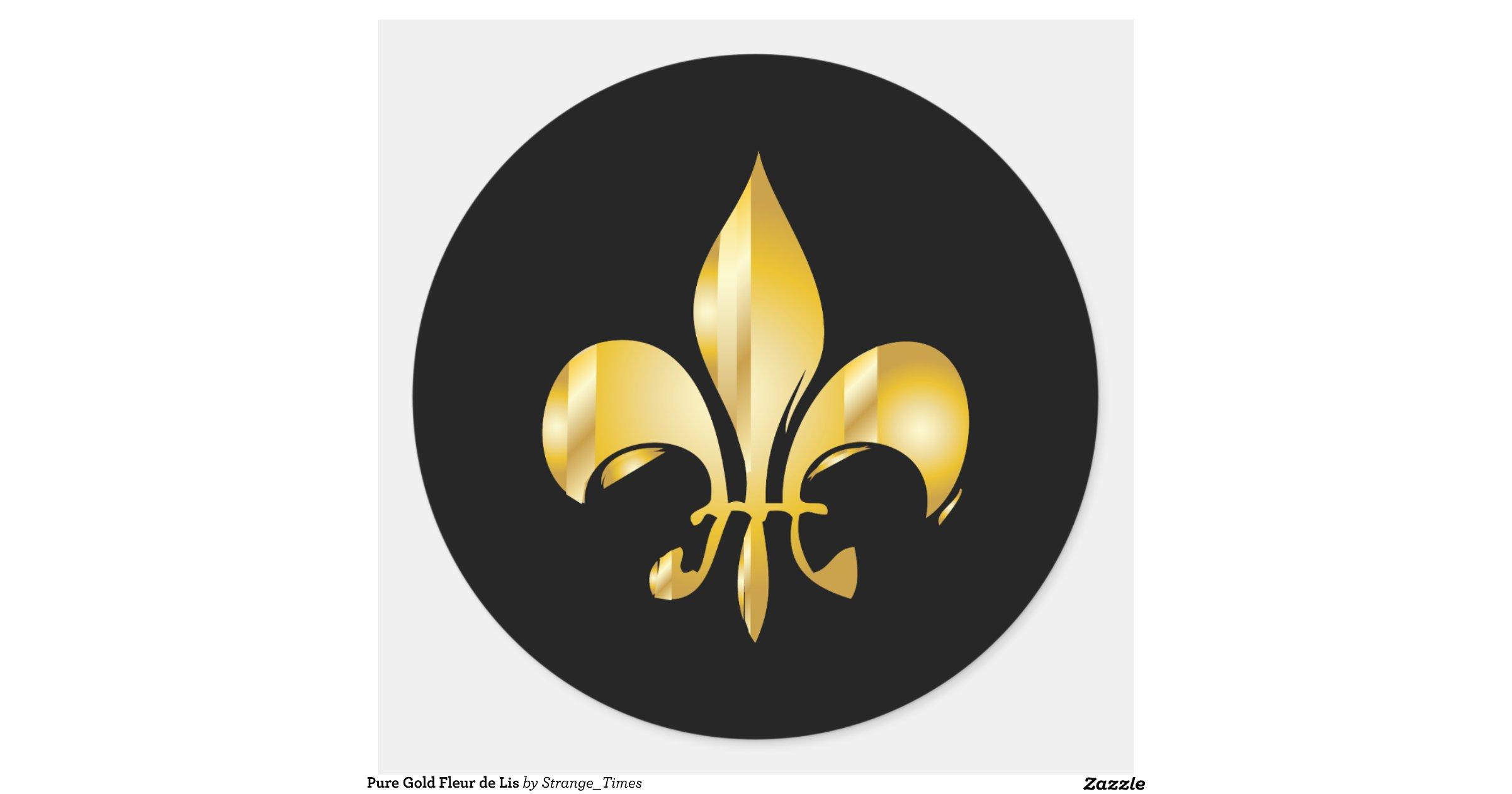 Fleur De Lis Black Background Stickers