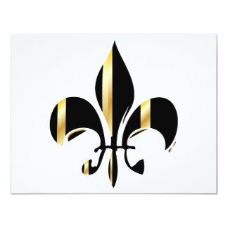 Fleur de Lis/black + gold Card