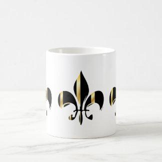 Fleur de Lis/black + gold Coffee Mug