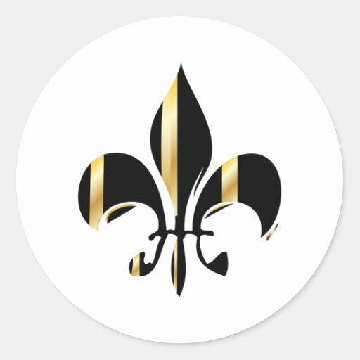 Gold Fleur De Lis Stickers 600 Custom Designs Zazzle
