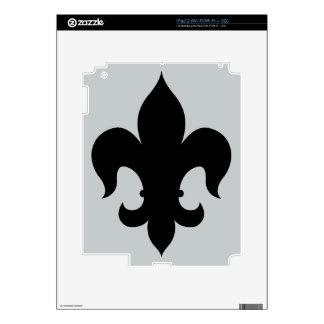 Fleur De Lis - Black iPad 2 Decal