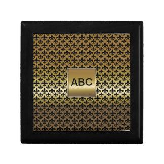 Fleur-de-lis Black on Gold Gift Box