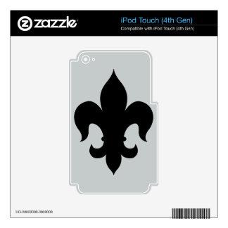 Fleur De Lis - Black Skins For iPod Touch 4G