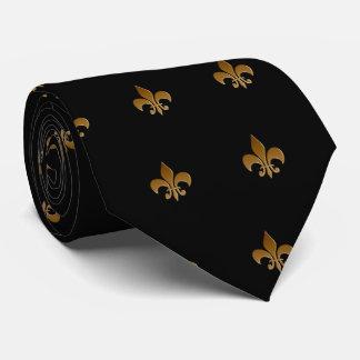 Fleur de lis/black Tie