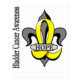Fleur De Lis Bladder Cancer Hope Postcard