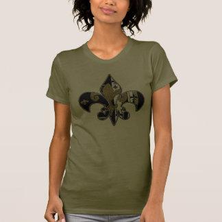 Fleur de lis bling apparel tee shirt