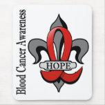Fleur De Lis Blood Cancer Hope Mouse Pad