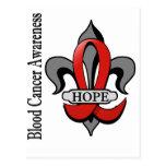 Fleur De Lis Blood Cancer Hope Postcard