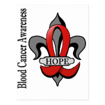 Fleur De Lis Blood Cancer Hope Postcard