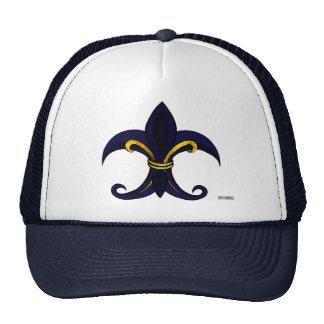 Fleur de lis blue/gold trucker hat