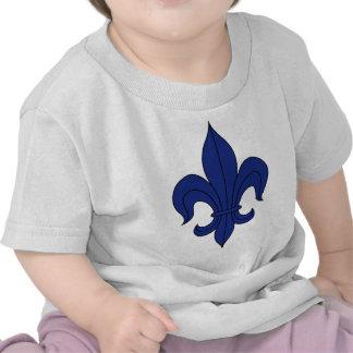 Fleur De Lis - Blue - Lined Tee Shirt
