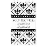 Fleur De Lis Border Double-Sided Standard Business Cards (Pack Of 100)