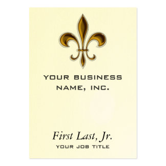 Fleur De Lis Large Business Cards (Pack Of 100)
