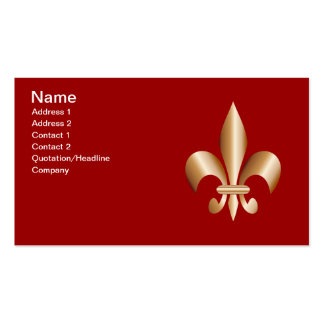 Fleur de lis Double-Sided standard business cards (Pack of 100)