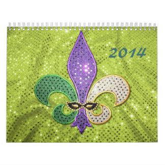 Fleur De Lis Calendar 2014