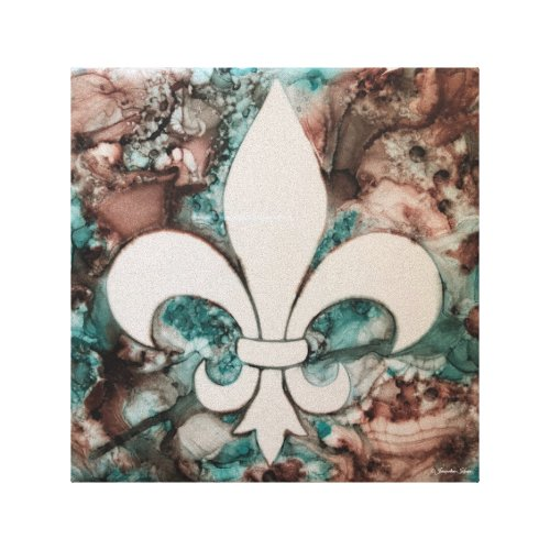 Fleur De Lis Decorative Wall Art Canvas