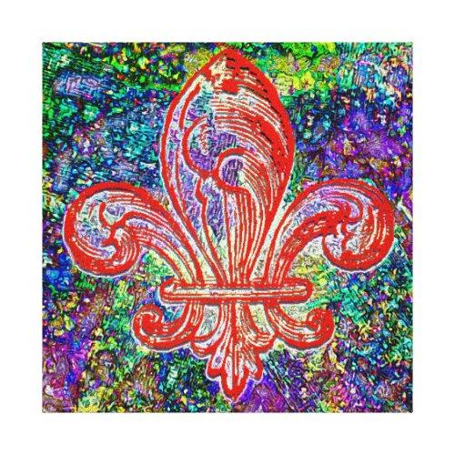 Fleur De Lis Canvas Print - fleur de lis wall decorations