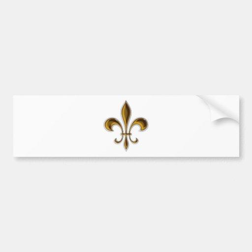 Fleur De Lis Car Bumper Sticker Zazzle