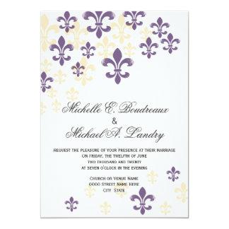 Fleur de Lis Cascade Informal Wedding 1 Card