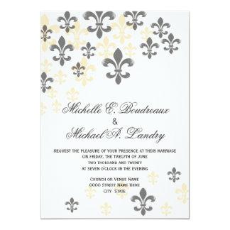 Fleur de Lis Cascade Informal Wedding Card
