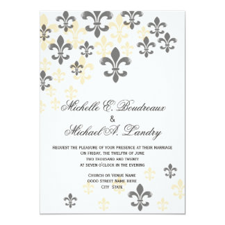 Fleur De Lis Cascade Informal Wedding Card