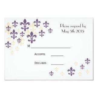 Fleur de Lis Cascade RSVP Cards
