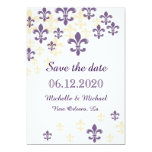 Fleur de Lis Cascade Save the Date 5x7 Paper Invitation Card