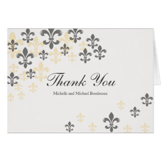 Fleur de Lis Cascade Thank You Card