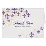 Fleur de Lis Cascade Thank You Greeting Card