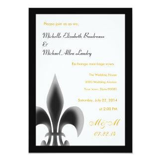 Fleur de Lis Casual Wedding Card