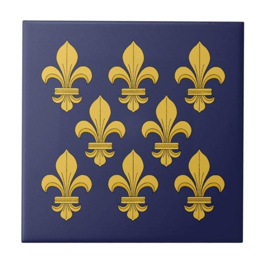 Fleur De Lis Ceramic Tile